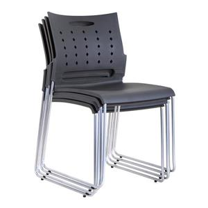TygerClaw 16.88-in x 32.2-in Black Plastic Office Chair