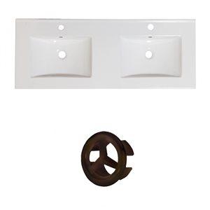 "American Imaginations Ceramic Top Set - 48"" - White"