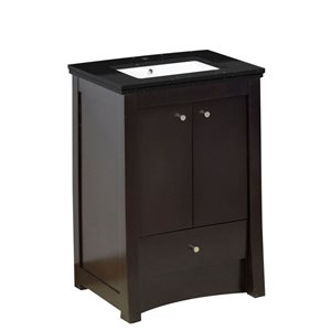 American Imaginations Xena Farmhouse 31.75-in Brown Bathroom Vanity with Quartz Top