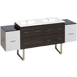 American Imaginations ena Farmhouse 76-in Multiple Finishes Bathroom Vanity With Quartz Top
