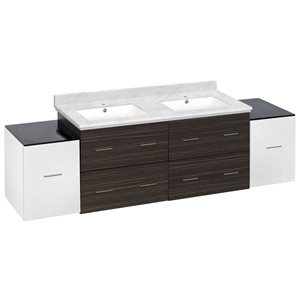 American Imaginations Xena Farmhouse 76-in Multiple Finishes Bathroom Vanity With Quartz Top