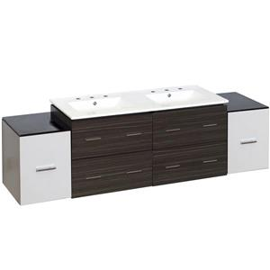 American Imaginations Xena Farmhouse 76-in Multiple Finishes Bathroom Vanity With Ceramic Top