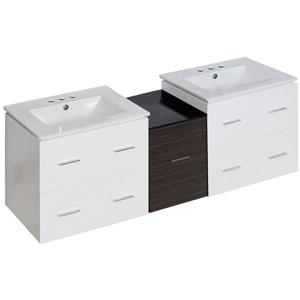 American Imaginations Xena Farmhouse 61.5-in Multiple Finishes Bathroom Vanity with Ceramic Top