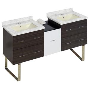 American Imaginations Xena Farmhouse 61.5-in Multiple Finishes Bathroom Vanity with Marble Top
