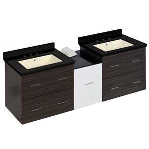 American Imaginations Xena Farmhouse 61.5-in Multiple Finishes Bathroom Vanity with Quartz Top