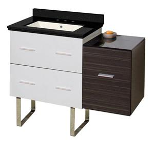American Imaginations Xena Farmhouse 37.75-in Single Sink Multi Finishes Bathroom Vanity with Quartz Top