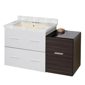 American Imaginations Xena Farmhouse 37.75-in  Single Sink Multi Finishes Bathroom Vanity with Marble Top