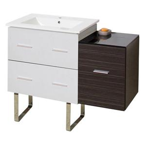 American Imaginations Xena Farmhouse 37.75-in  Single Sink Multi Finishes Bathroom Vanity with Ceramic Top