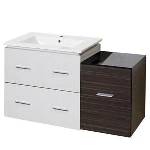 American Imaginations Xena Farmhouse 37.75-in Multi Finishes Single Sink Ceramic Top