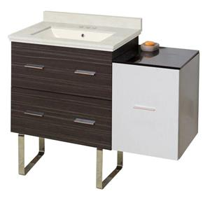 American Imaginations Xena Farmhouse 37.75-in Multi Finishes Single Sink Marble Top