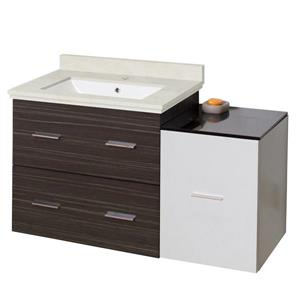 American Imaginations Xena Farmhouse 38-in Multi Finishes Single Sink Marble Top