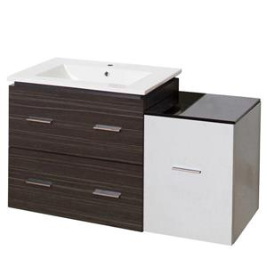 American Imaginations Xena Farmhouse 37.75-in Multi Finishes Single Sink Ceramic Top