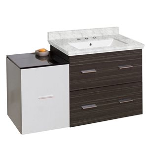 American Imaginations Xena Farmhouse 37.75-in Multiple Colors Bathroom Vanity with Marble Top