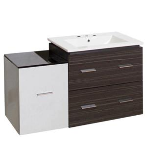 American Imaginations Xena Farmhouse 37.75-in Multiple Colors Bathroom Vanity with Ceramic Top