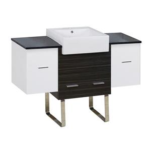 American Imaginations Xena Farmhouse 50.75-in Multiple Colors Bathroom Vanity with Quartz Top
