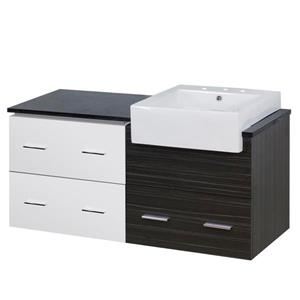 American Imaginations Xena Farmhouse 48.75-in Multi Coloured Bathroom Vanity with Quartz Top