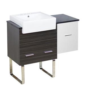 American Imaginations Xena Farmhouse 36.75-in Multi Coloured Bathroom Vanity with Quartz Top