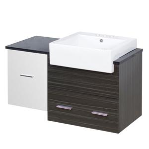 American Imaginations Xena Farmhouse 36.75-in Multi Coloured Bathroom Vanity with Quartz Top