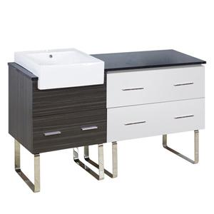 American Imaginations Xena Farmhouse 60.75-in Multi Coloured Bathroom Vanity with Quartz Top