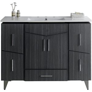 Zen 48-in Floor Mount Dawn Grey Vanity Set