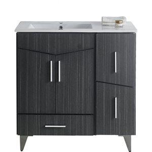 American Imaginations Xena Farmhouse 48.00-in Grey Bathroom Vanity with Ceramic Top