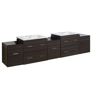 Xena 88.5-in W Wall Mount Vanity Set