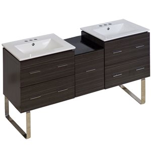 Xena 61.5-in Floor Mount Vanity Set