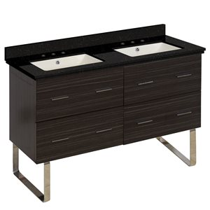 American Imaginations Xena 47.5-in Double Sink Gray Bathroom Vanity with Quartz Top