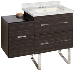 American Imaginations Xena Farmhouse 37.75-in Gray Bathroom Vanity with Marble Top