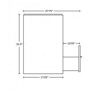 American Imaginations Xena Farmhouse 37.25-in White/Charcoal/Chrome Vanity Base Set