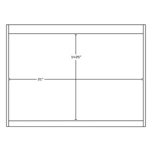 American Imaginations Xena Farmhouse 68.75 -in Grey Vanity Base Set
