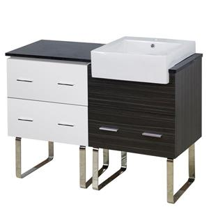 American Imaginations Xena Farmhouse 46-in White/Charcoal Vanity Base Set