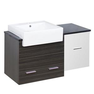American Imaginations Xena 36.75-in White/Charcoal Vanity Base Set