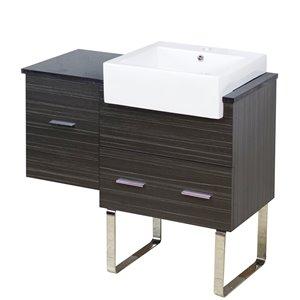 38-in Xena Farmhouse Modern Plywood-Melamine Vanity Base Set