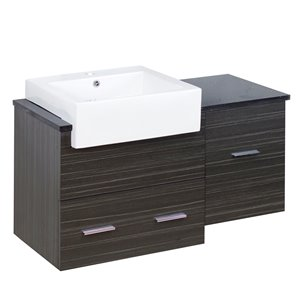 American Imaginations 36.75-in White/Charcoal Vanity Base Set