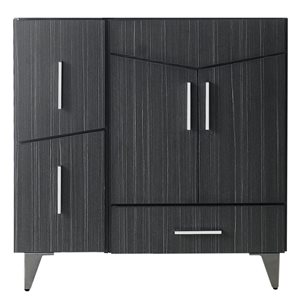 American Imaginations Zen 35-in White/Charcoal Vanity Base Set