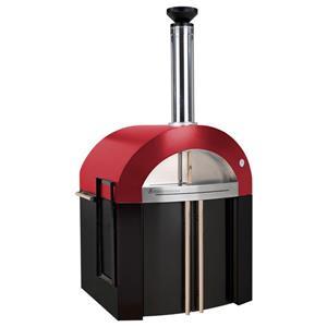Forno Venetzia Bellagio 300 44-in Red Outdoor Wood-Fired Pizza Oven