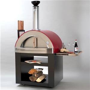 Forno Venetzia Torino 300 Red 62-in Outdoor Wood-Fired Pizza Oven
