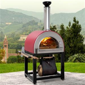 Forno Venetzia Pronto 300 Red 37-in Outdoor Wood-Fired Pizza Oven