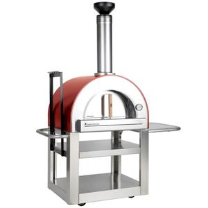 Forno Venetzia Pronto 500 Red 33-in Outdoor Wood-Fired Pizza Oven