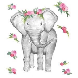 WallPops Penelope the Elephant Wall Art Kit