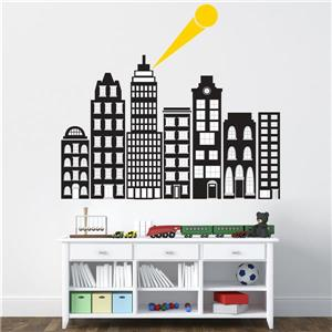 WallPops City Of Heroes Wall Art Kit