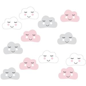WallPops Head In The Clouds Wall Art Kit