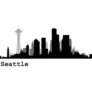 WallPops Seattle Cityscape Wall Art Kit