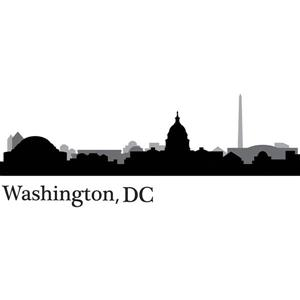 WallPops Washington, DC Cityscape Wall Art Kit