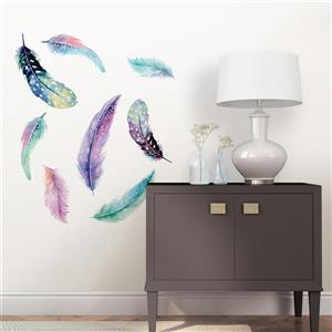WallPops Celestial Feathers Wall Art Kit