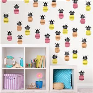 WallPops Aloha Pineapple Applique Kit