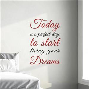 WallPops Today Dreams Wall Quotes