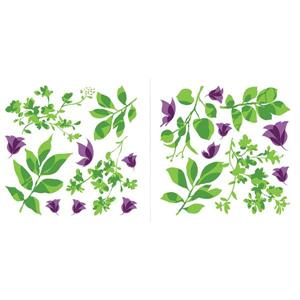 WallPops Leaves and Butterflies Wall Decal