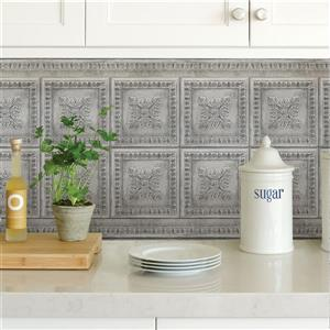 Brewster Wallcovering Vintage Tin Backsplash - Grey